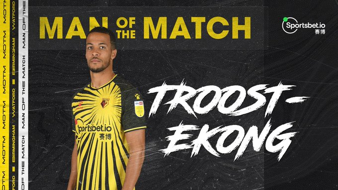 Super Eagles defender, Willian Troost Ekong vows to help Watford gain promotion to Premier League next season