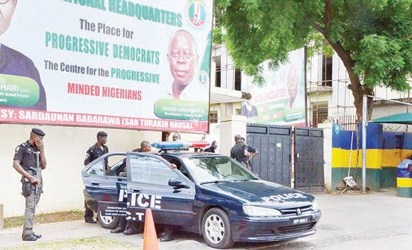 Police seal off APC's National Secretariat ahead of planned NEC meeting