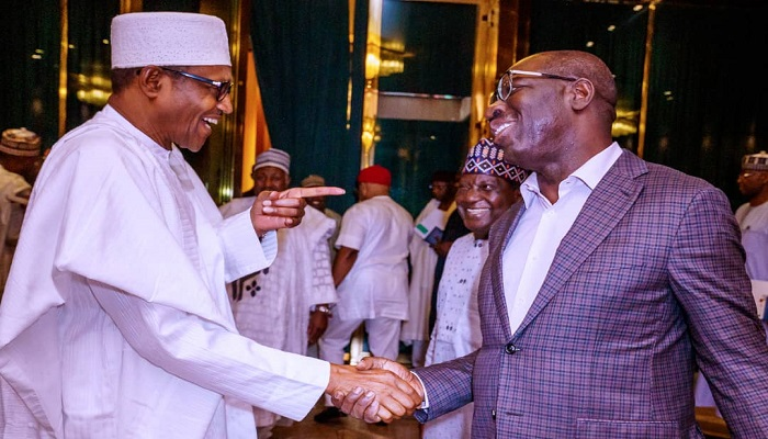 President Muhammadu Buhari congratulates Governor Godwin Obaseki on election victory