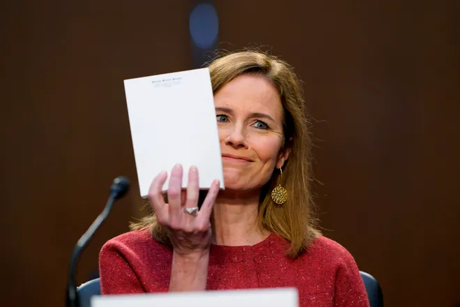 US Supreme Court nominee Amy Barrett evades questions on healthcare at Senate confirmation hearing