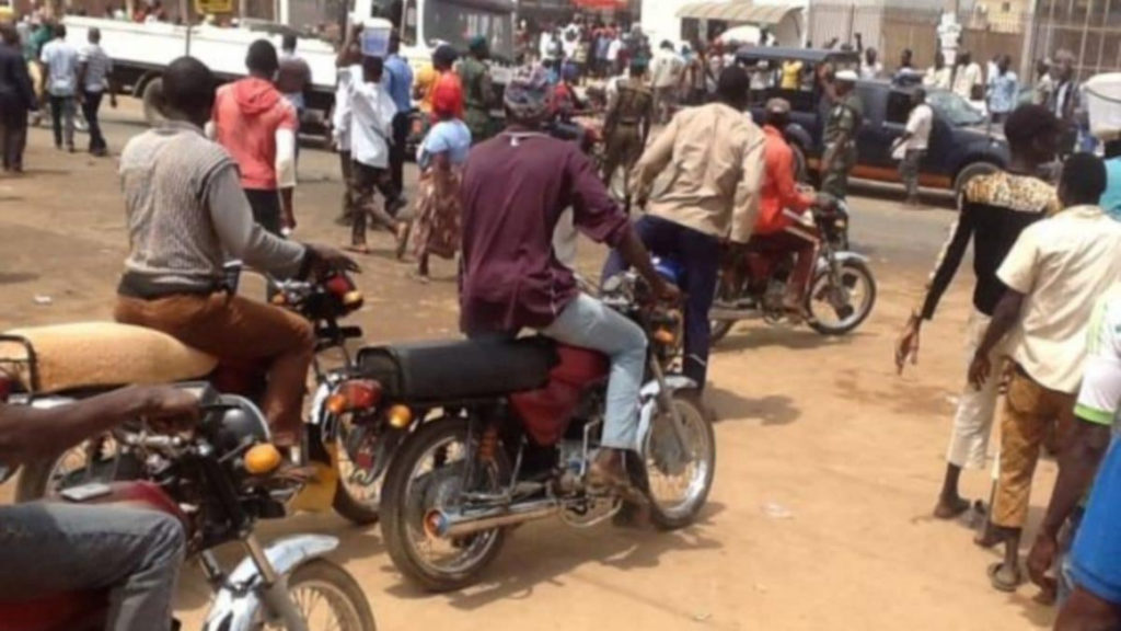 Okada riders chase Lagos task force officers