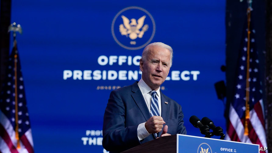 U.S President-elect Joe Biden applauds sincere transition plans from White House.