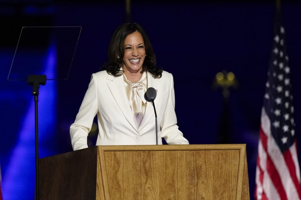 Kamala Harris makes first speech as US Vice President