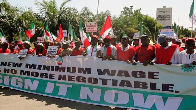 Nigeria Labour Congress threatens to embark on industrial action on March 10 over alleged attempt to transfer minimum wage to concurrent list