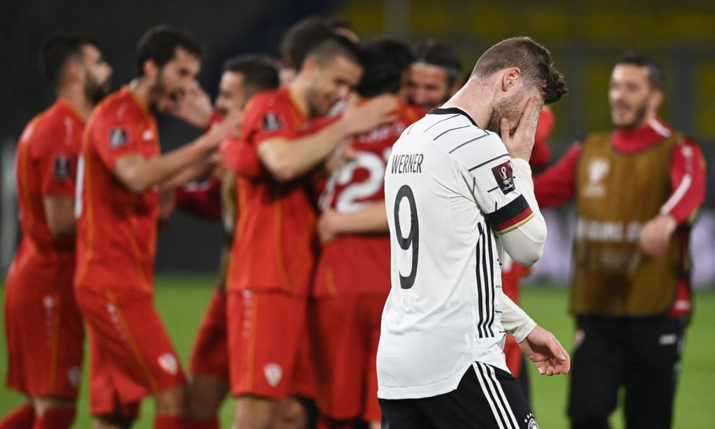 Germany suffers shock defeat to North Macedonia in World Cup qualifier